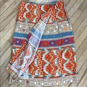 Summer vacation skirt wrap look boho cute linen